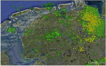 Figuur 8. Door het KNMI geregistreerde aardbevingen in Noord Nederland