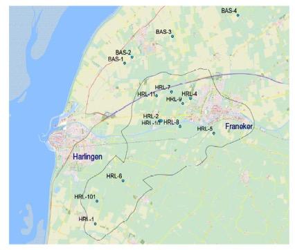 Waar vindt delfstofwinning in Fryslân plaats, door wie, hoe lang nog en met welke dalingsprognoses?
